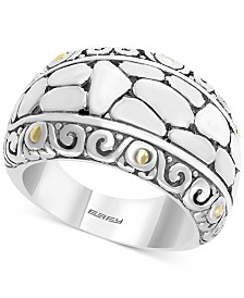 EFFY® Crackle-Look Statement Ring in Sterling Silver & 18k Gold