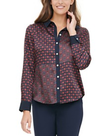 Tommy Hilfiger Patchwork-Print Blouse