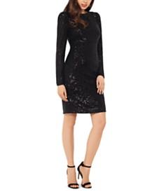 XSCAPE Sequin Sheath Dress