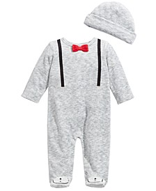 Baby Boys 2-Pc. Suspender Coveralls & Hat Set, Created For Macy's