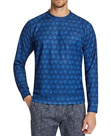 Men's Slim-Fit Stretch Circles Sweat Shirt