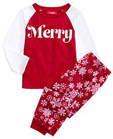 Matching Family Pajamas Kids Merry Pajama Set, Created For Macy's