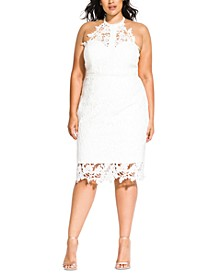 Trendy Plus Size Lace Victorian Dress