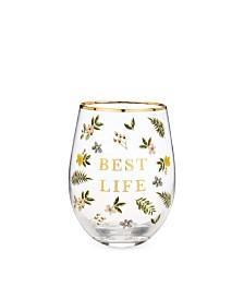 Twine Best Life Stemless Wine Glass