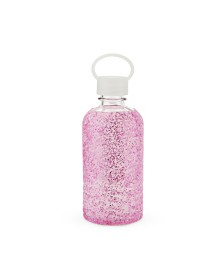 Blush Glimmer Glitter Silicone Water Bottle