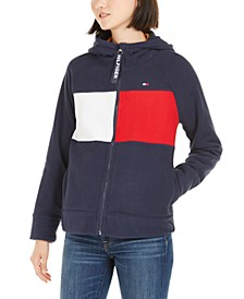 Hooded Fleece Colorblocked Jacket