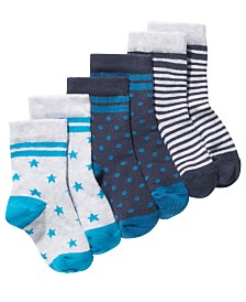 First Impressions Baby Boys 3-Pk. Printed Socks, Created For Macy's