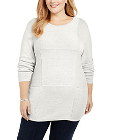 Karen Scott Plus Size Knit Tunic, Created for Macy's