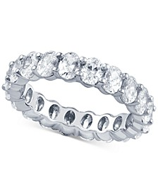 Diamond Oval Eternity Band (4 ct. t.w.) in 14k White Gold