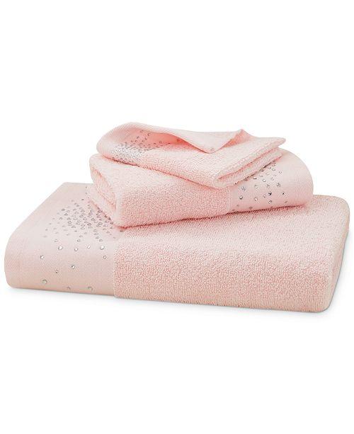 "Urban Habitat CLOSEOUT! Rhinestone Starburst Cotton 12"" x 12"" Wash Towel"