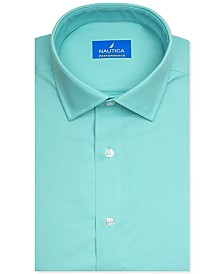 Nautica Men's Classic/Regular-Fit Non-Iron Performance Stretch Solid Dress Shirt
