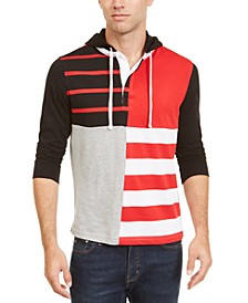 Men's Regular-Fit Colorblocked Hooded Rugby Polo Shirt, Created For Macy's