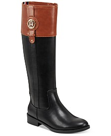 Tommy Hilfiger Women's Wide Calf Imina Riding Boots