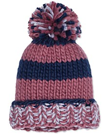 Women's CC Girl Chunky-Knit Pom Pom Hat