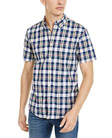 Tommy Hilfiger Men's Slayton Custom-Fit Plaid Shirt