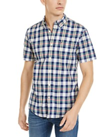 Tommy Hilfiger Men's Slayton Custom-Fit Plaid Shirt