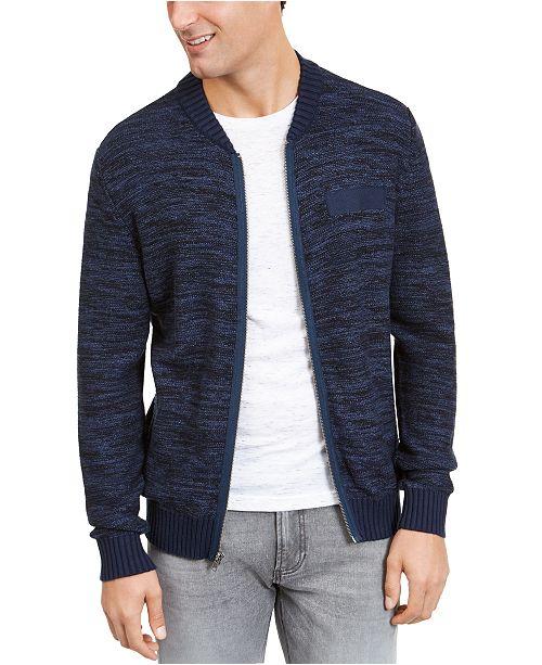 American Rag Men's Textured Zip-Front Cardigan, Created For Macy's