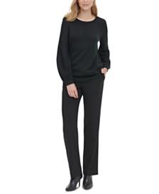 Calvin Klein Blouson-Sleeve Sweater