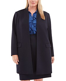 Plus Size Textured Topper Jacket