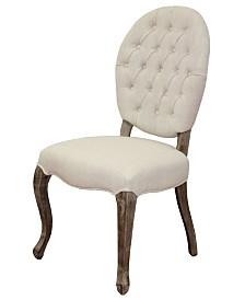 Moti Linen Tufted High Back Side Chair Set of 2