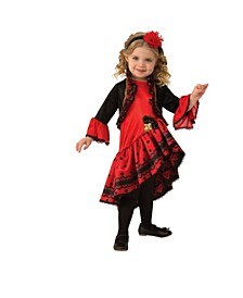 Toddler Girls Spanish Dancer Deluxe Costume