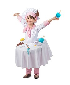 BuySeasons Girl's Messy Baker Table Top Child Costume
