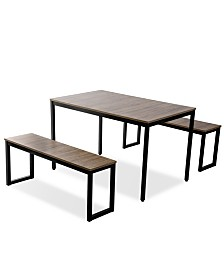 Harper & Bright Designs 3-Piece Dining Table Set