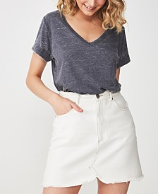 Cotton On Karly Short Sleeve V Neck Top