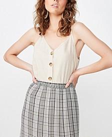 Allie Button Front Cami