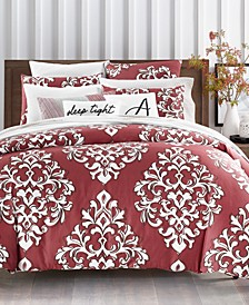 CLOSEOUT! Outline Damask Bedding Collection, Created for Macy's
