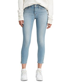 Ankle Snap Skinny Jeans