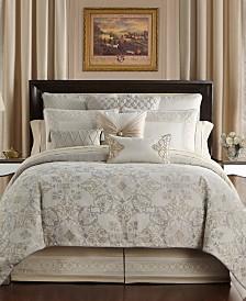 Waterford Shelah Reversible California King 4 Piece Comforter Set