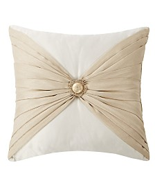"Waterford Shelah 18"" X 18"" Pleated Square Decorative Pillow"