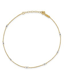 Ropa Anklet in 14k Yellow and White Gold