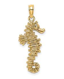Sea Horse Pendant in 14k Yellow Gold