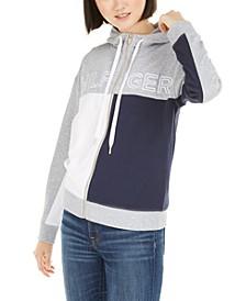 Colorblocked Zip-Up Hoodie