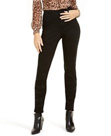 I.N.C. INCEssential Zebra-Embellished Curvy Skinny Jeans, Created For Macy's