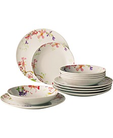 Flower Meadow 12-PC Dinnerware Set