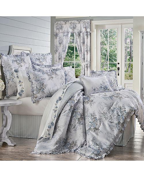 Royal Court Estelle Blue California King 4pc. Comforter Set