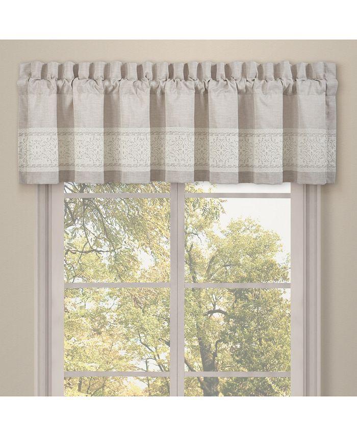 J Queen New York - Lauralynn Beige Window Straight Valance