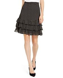 Mini Dot Ruffled Skirt