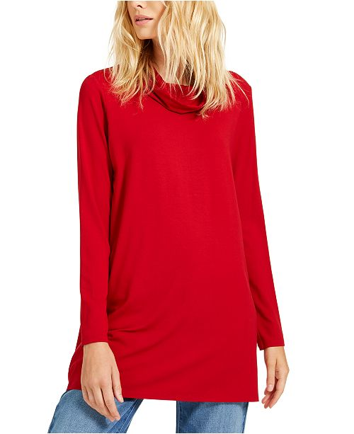 Eileen Fisher Cowl-Neck Knit Tunic, Created For Macy's