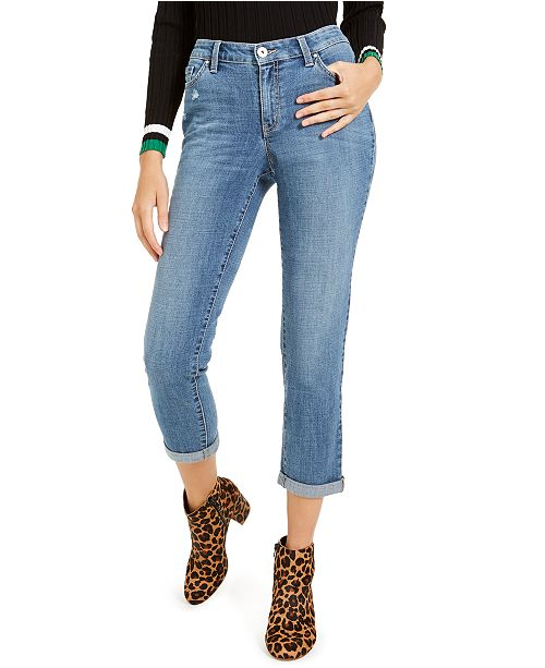 INC International Concepts INC Curvy-Fit Cuffed Boyfriend Jeans, Created for Macy's