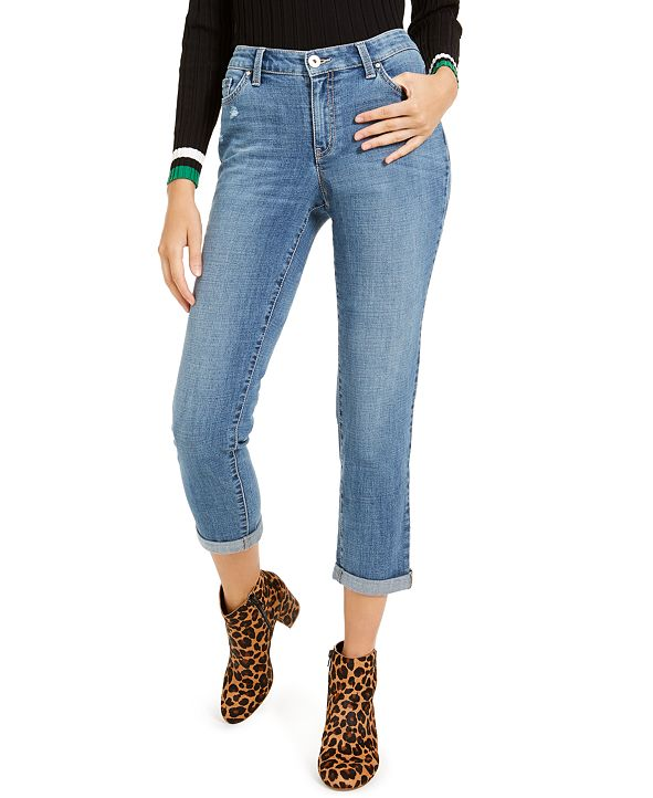 INC International Concepts INC Curvy-Fit Boyfriend Jeans, Created for Macy's