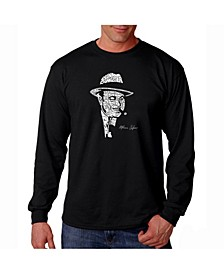 Men's Word Art Long Sleeve T-Shirt- Al Capone - Original Gangster
