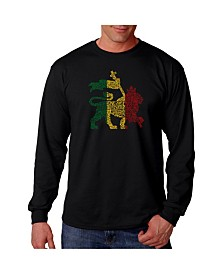 LA Pop Art Men's Word Art Long Sleeve T-Shirtt, One Love