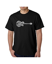 Men's Word Art T-Shirt - Country Guitar
