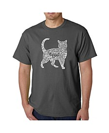 Men's Word Art T-Shirt - Cat
