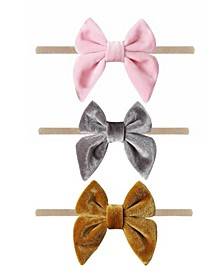 Baby Girl Bow Headband Set