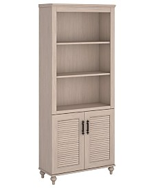 Kathy Ireland Home by Bush Furniture Volcano Dusk Bookcase with Doors